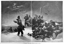 Nie zurück! österreichische Nordpolexpedition, J. v. Payer,Riesen-Holzstich 1893