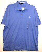 Polo Ralph Lauren Mens Blue Custom Slim Fit Polo Shirt NWT Size XL