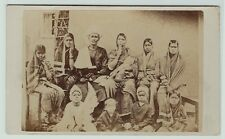 RARE CDV Photo - Indian Mahratta Mission - Preacher Maroti & Family India 1860s