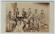 RARE CDV Photo - Indian Mahratta Mission - Preacher Maroti & Family India 1860s