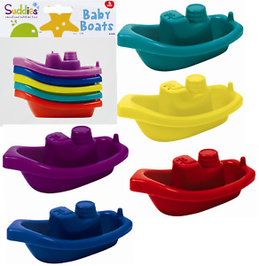 Baby Bath Time Boats 5Pk Bath Tub Activity Water Fun Floating Toys Toddlers