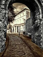 Cobbled Street Arch Lewes Sussex Photo Poster Print