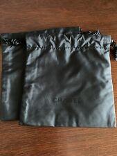 Chanel Black Drawstring Bags Set of 2 Jewelry Cosmetics Storage Travel