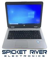 HP ProBook 640 G3 Dual Core i7-7600U 2.80GHz 256GB SSD 8GB RAM Win10Pro #50797