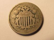 1867 Sheild Nickel in G Good Condition