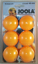 Joola Rosskopf Champ Tischtennisbälle Tischtennis Ball Bälle 6 Stk - orange NEU