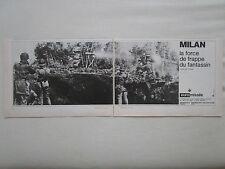 11/1979 PUB EUROMISSILE MILAN ANTI TANK CHAR ARMEE FRANCAISE ORIGINAL FRENCH AD