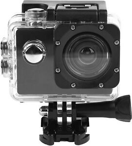 Intempo EE2233STKEU Sync Waterproof Wide Angle IPX8 Action Camera On Body, Bike