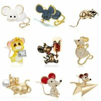 Lovely Mouse Rat Brooch Pins Women Enamel Lapel Suit Collar Jewelry Party Gift