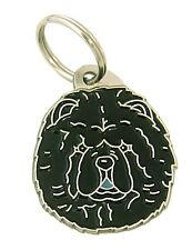 Personalised, Stainless Steel, Pet ID Tag, Chow chow, black