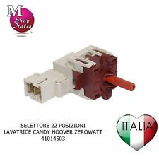 Sélecteur Programmes 22 Positions Machine À Laver Candy Zerowatt Hoover 41014503