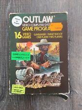 Jeux Atari Outlaw 16 Video Games Dans Boite D'origine Avec Notice