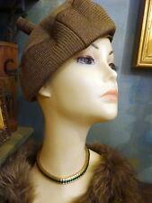 Vintage 1940s  1950s Stylish Millinery Rayon Hat