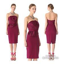 MARCHESA NOTTE Silk Cocktail Strapless Dress 4, NEW $575 SHOPBOB
