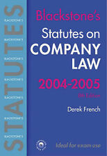 Statutes on Company Law: 2004/2005 by Derek French (Paperback, 2004)