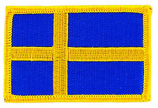 FLAG PATCH PATCHES SWEDEN SWEDISH IRON ON COUNTRY EMBROIDERED WORLD FLAG