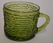 Anchor Hocking ~ Avocado Green Soreno Glass ~ Snack Cup