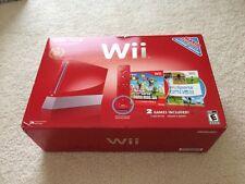 Brand New Nintendo Wii New Super Mario Bros Red Console 25th Anniversary Ed