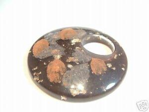 1 x LARGE Acrylic Round Donut Pendant: BNAP101 Chocolate