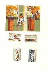 DOMINICA 1984 LA OLYMPICS SCOTT #'s 822 TO 826 MNH SET W.SOUVENIR SHEET FREESHIP