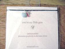 WHITESTUFF FRIENDSHIP BRACELET AMAZONITE BLUE & SILVER PLATE ON CARD NEW