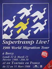 PUBLICITÉ SUPERTRAMP LIVE AVEC RTL 1988 WORLD MIGRATION TOUR A BERCY