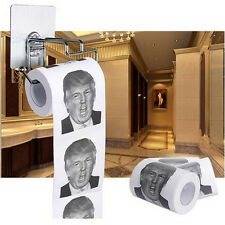 Donald Trump Humour Toilet Paper Roll Novelty Funny Gag Gift Dump with VJ