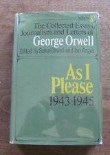 AS I PLEASE by George Orwell  - collected essays HCDJ 1969 1st animal farm 1984