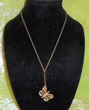 NECKLACE WITH A DOUBLE SIDED BUTTERFLY PENDANT