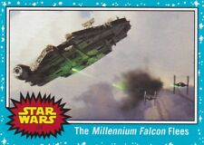 2017 Topps Star Wars The Last Jedi Sammelkarte, #109 The Millennium Falcon Flees