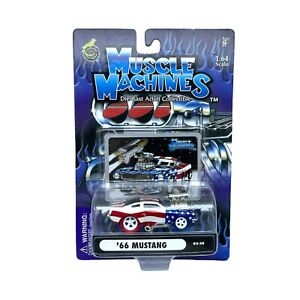 Muscle Machines 1966 '66 Ford Mustang Car Blown Stars & Stripes 1/64 Scale