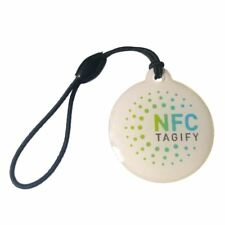 5 x NFC Hang Round Tags NTAG213 Chip Waterproof Label, iPhone 8 Android Windows