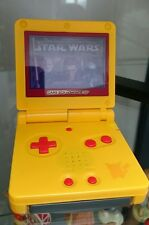 Nintendo Gameboy Advance SP Pikachu Edition Custom Rosso Schermo Portatile REFURB