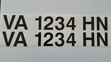Boat registration numbers- (2)3in.Custom made for you FREE SAME DAY SHIPPING