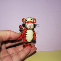Miniature Dollhouse Tiger - Winnie The Pooh Tigger - Artist Dollhouse Animal Toy
