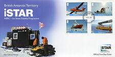 British Antarctic Territory BAT 2014 FDC iSTAR NERC 4v Set Cover Ice Sheet Stab