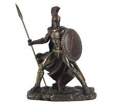 """Leonidas Greek Spartan Warrior King Bronze Figurine Miniature Statue 4""""H New"""