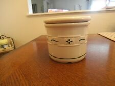 Longaberger Pottery Woven Traditions Heritage Green Crock w/Coaster Lid 1 Pint