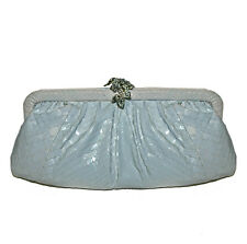 Clara Kasavina White Snakekeskin evening  clutch Bag
