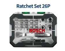 Bosch 2607017322 Screwdriver Bit and Ratchet Set Hand Tool Kit 26 Pcs