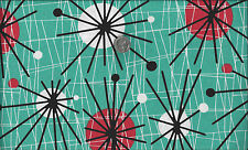 Mid Century Modern Atomic I Spy Fabric Classic By the Fat Quarter