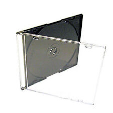 400 X CD DVD Slimline 5.2mm Jewel Cases for 1 Disc With Black Tray Pack of 400
