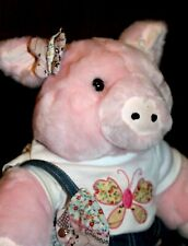BUILD A BEAR PIG Country Style T-Shirt BUTTERFLY Outfit Jean SKIRT & PURSE +Bow