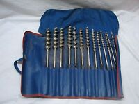 Set Russel Jennings Stanley no. 100 Brace Auger Drill Bits Tool Box of the World