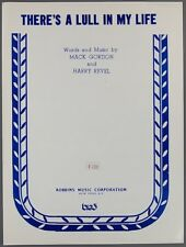 There'S A Lull In My Life Gordon & Revel Wake Up And Live Movie Sheet Music