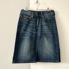 Levi's Blue Denim Skirt Size W24, in pre-loved great condition!