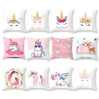 Cartoon Unicorn Print Sofa Cushion Cover Throw Pillow Case Home Decor Fashion