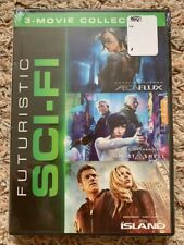 Brand New Sealed Aeon Flux / Ghost In The Shell / Island 3-Movie Futuristic Dvd!