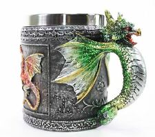 Green Royal Dragon Mug Serpent Handle Medieval Collectible Stein Home Decor Gift