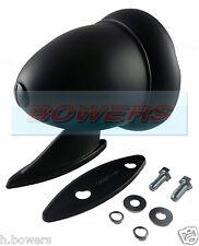 BLACK BULLET TORPEDO Exterior WING DOOR MIRROR CLASSIC VINTAGE SPORT AUTO DA CORSA